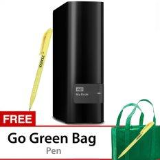 "WD MyBook 8TB Premium Storage 3.5"" USB 3.0 - Hitam + Gratis Go Green Bag + Pen"