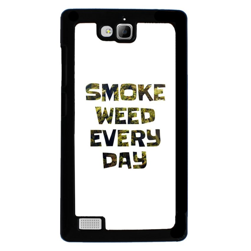Weed Hipster Quote Pattern Phone Case for Huawei Honor 3c White (EXPORT)