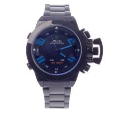 WEIDE WH-1008 Men's Quartz & LED Electronics Dual Time Display Wrist Watch - Black (1 X CR2016)