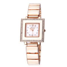 WEIQIN Square Dial Crystal Rhinestone Bracelet Watches Women 24 Hours Analog Quartz Fashion Dress Ladies Watch Female 2016 New (Intl)