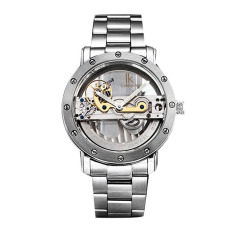 Weishi APA Qi (IK Colouring) Series Of Hollow Mechanical Automatic Table Movement Mens Watch Fashion Personality White Watch Keyin Circle Of White Strip
