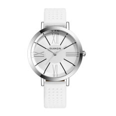 Weishi Crown Qin (GUANQIN) Genuine Simple Fashion Leisure Women Quartz Thin Waterproof Belt Ladies Fashion Watch GS496 White Shell Flour