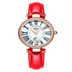 Weishi Crown Qin (GUANQIN) Ladies Quartz Watch Ladies Watch Fashion Leisure Ladies Watch GQ15002 White Gold Other Red Rose