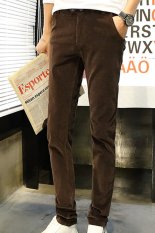 Wick On New Models Fall Men's Casual Pants Men's Casual Pants Long Pants Brown (Intl)