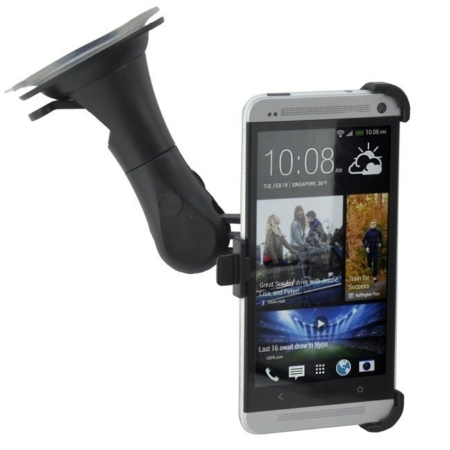 Windscreen Strong Car windshield mount Holder for HTC One M7 (Intl)