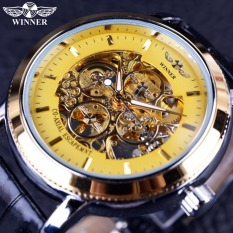 Winner Designer Transparent Case Back Skeleton Winner Logo Carving Clock Men Mechanical Watch - Intl