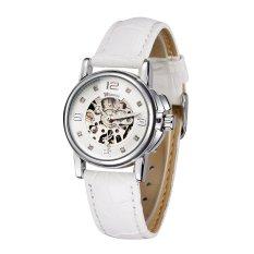 WINNER Fashion OL Style Watch High Quality Hollowed-out Self-winding Automatic Mechanical Women Wristwatch