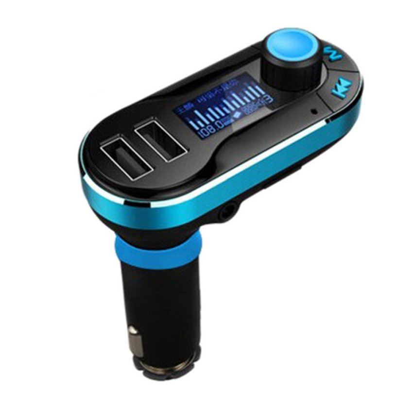 Wired FM Transmitter Car MP3 Player Car Kit Charger For Samsung iPhone 6 5S 5C (Blue) (Intl)