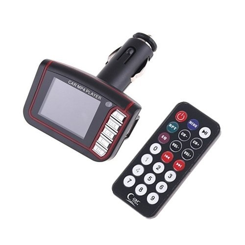 Wireless 1.8'' LCD Car Kit MP3 MP4 Music Player FM Transmitter USB SD MMC Remote Black (Intl)