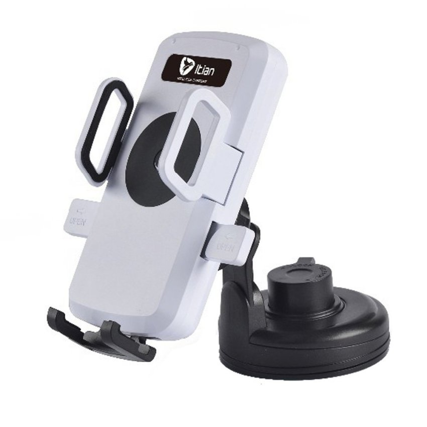 Wireless Car Charger Transmitter Cradle Holder for Sumsung Nokia J74 (White)