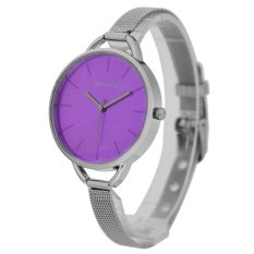 WoMaGe Thin Wire Reticularis Women's Silver Stainless Steel Strap Watch 994007 (Purple) (Intl)