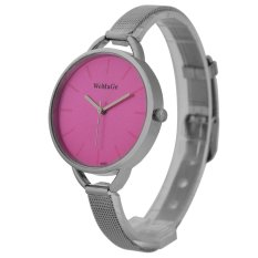 WoMaGe Thin Wire Reticularis Women's Silver Stainless Steel Strap Watch 994008 (Red)