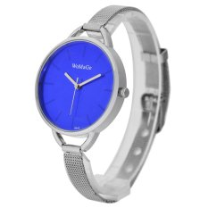WoMaGe Thin Wire Reticularis Women's Silver Stainless Steel Strap Watch 994012 (Blue)