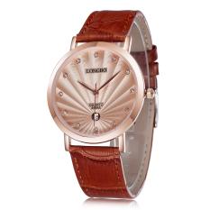 Womdee 2016 New Arrival Men Watch Luxury Brand Watch Diamonds Calendar Quartz Men Wristwatches Casual Fashion Watch (Gold) (Intl) (Intl)