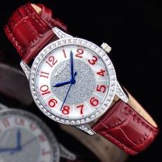 Womdee Authentic West Chi Westchi Fashion Ring Diamond Gold Shell Powder Quartz Watch W3122L Watch Belt