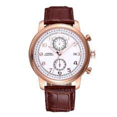 Womdee Brand Leather Watches Men Women Waterproof Fashion Casual Luminous Quartz Watch Calendar Business Unisex WristWatches SINOBI (Brown) (Intl) (Intl)