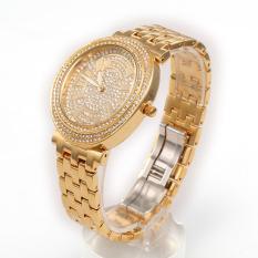 Womdee HEMNEZ Authentic Korean Fashion Trend Diamond Jewelry Watches Fashion Table Quartz Watch Waterproof And Shockproof (Gold) (Intl)