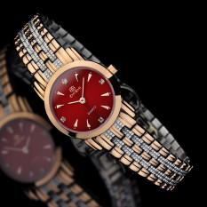Womdee Merchants Know When ZHISHI Import Movement Sapphire Mirror Fashion OL Spike Drill Scale Quartz Watch