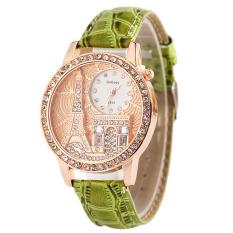 Women Elegant Set Auger Diamond Watch (Green)