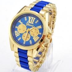 Women Ladies Quartz Full Steel Watch Menswear Luxury Wrist Watch (Blue)
