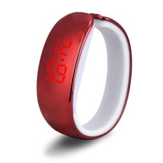 Women Ladies Sport LED Plating Waterproof Bracelet Digital Wrist Watch Red Free Shipping