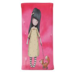 Women Lady Faux Leather PU Girl Print Card Holder Long Purse Wallet Handbag Long Card Holder Handbag Bag Clutch Purse Rose Red
