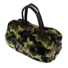 Women Plush Handbag Autumn Winter Handbag Shoulder Bag Purse Tote Green