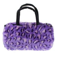 Women Plush Handbag Autumn Winter Handbag Shoulder Bag Purse Tote Purple