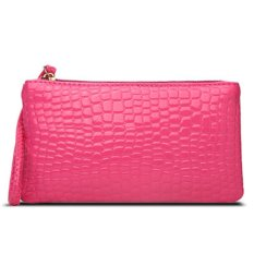 Women Portable Alligator Texture Wallet Zipper Clutch Bag Handbag Coin Purse (Rose Red) (Intl)