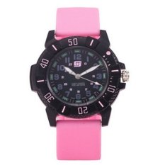 Women Sports Watches Casual Quartz Watch Digital Analog Military Multifunctional Women's Wrist Watches (Pink)