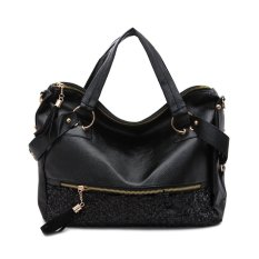 Womens Designer Style Grab Bag Satchels Purses Ladies Shoulder Bag Tote Handbag (Black) - Intl (Intl)
