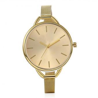 Women's Elegant Style Quartz Watch Dress Watches Bracelet Wrist Watches (Gold)