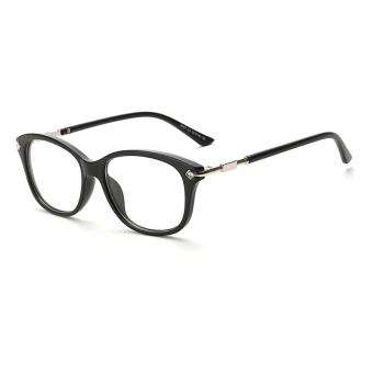 Women's Eyewear Fashion Rectangle Glasses Black Frame Glasses Plain for Myopia Women Eyeglasses Opti.
