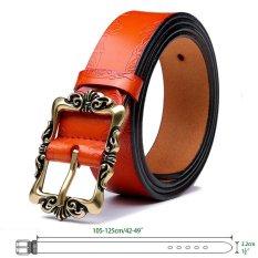 Womens Genuine Leather Belt Fashion Belts Orange (Intl)