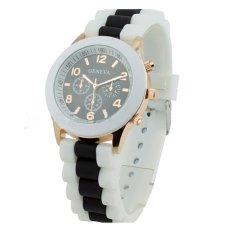 Womens Mens Unisex Geneva Silicone Jelly Gel Quartz Analog Sports Wrist Watches Black