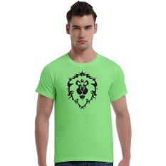 World Of Warcraft Lion Cotton Soft Men Short T-Shirt (Green) - Intl