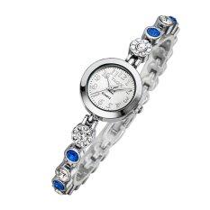 Xaqiwe Genuine YAQIN Yaqin Watch Female Models 7203 Women's Fashion Watch Fashion Bracelet Watch Girls (Blue)