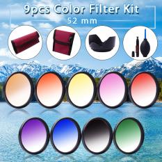 XCSource 52mm 9pcs Graduated Color Filter Kit For Nikon D5200 D7100 D700.18-55mm LF496