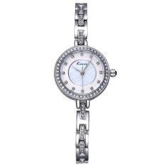Xiuya KIMIO Rhinestone Crystal Rose Gold Women's Bracelet Watches Luxury Brand Lady Fashion Dress Watch S Feminino 2016 New (Silver)