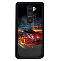 Y&M Cool Fire Car LG G2 Phone Cover (Multicolor)