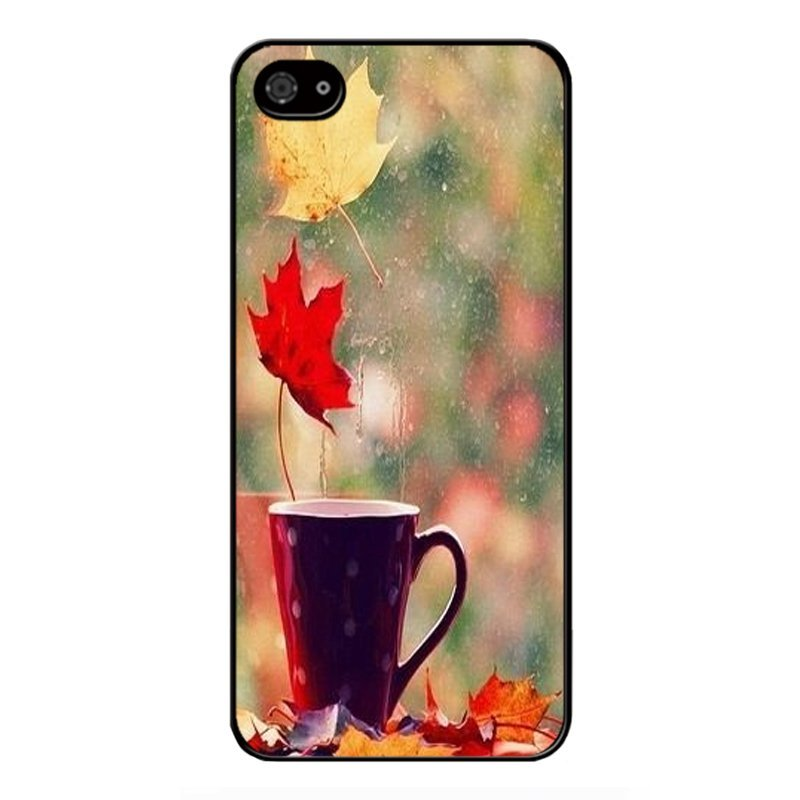 Y&M Non-mainstream Leaves Pattern Cell Phone Cases For iPhone SE / 5S / 5 (Multicolor)