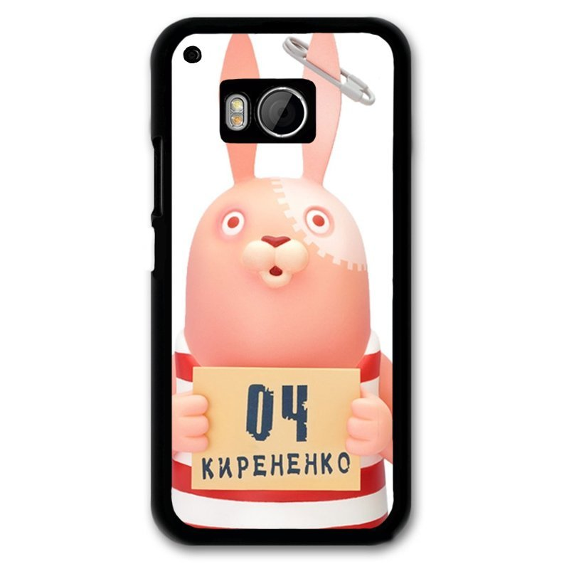 Y&M 04 KNPEHEHKO Rabbit Pattern Phone Case for Htc M9 Black
