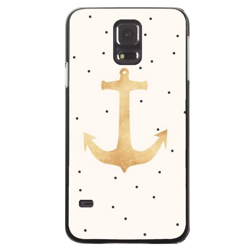 Y&M Anchor Painting Case for Samsung Galaxy S5 (Black)
