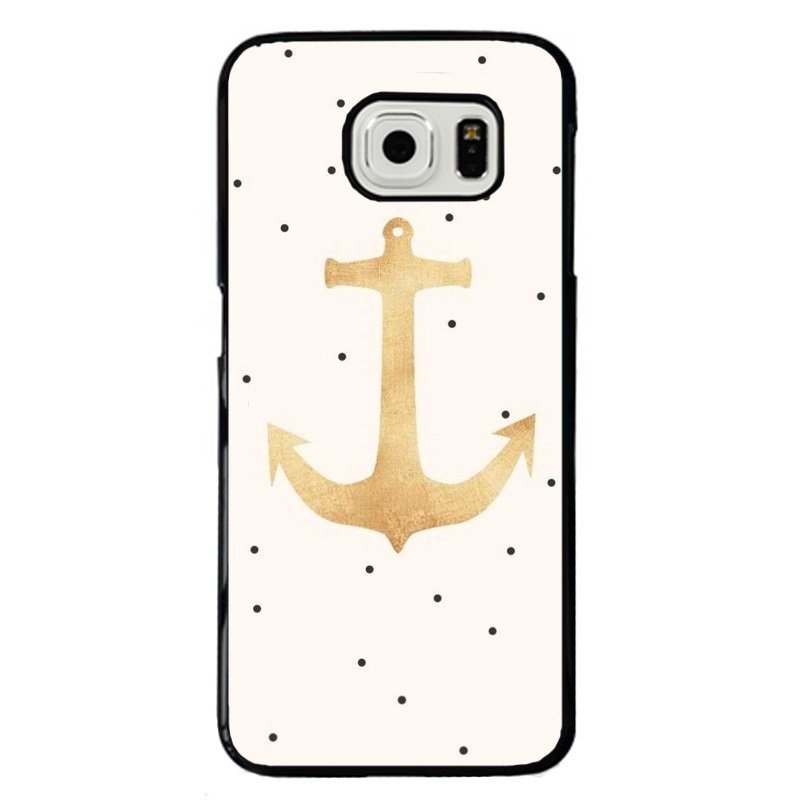 Y&M Anchor Painting Case for Samsung Galaxy S6 (Black)