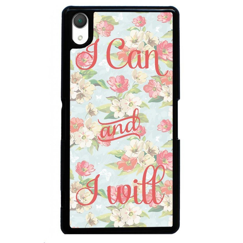 Y&M Beautiful Flower Painting Cover for SONY Xperia Z4 (Black)