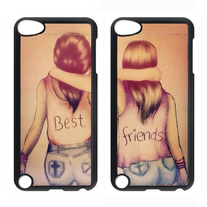 Y&M Best Friends iPod Touch 4 Couple Phone Cover (Multicolor)