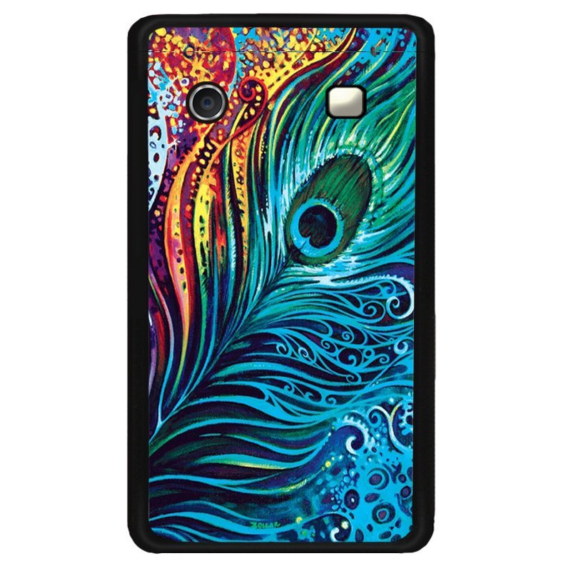 Y&M Black Berry 9320 Mobile Case Beautiful Peacock Feather Printed Cover (Multicolor)