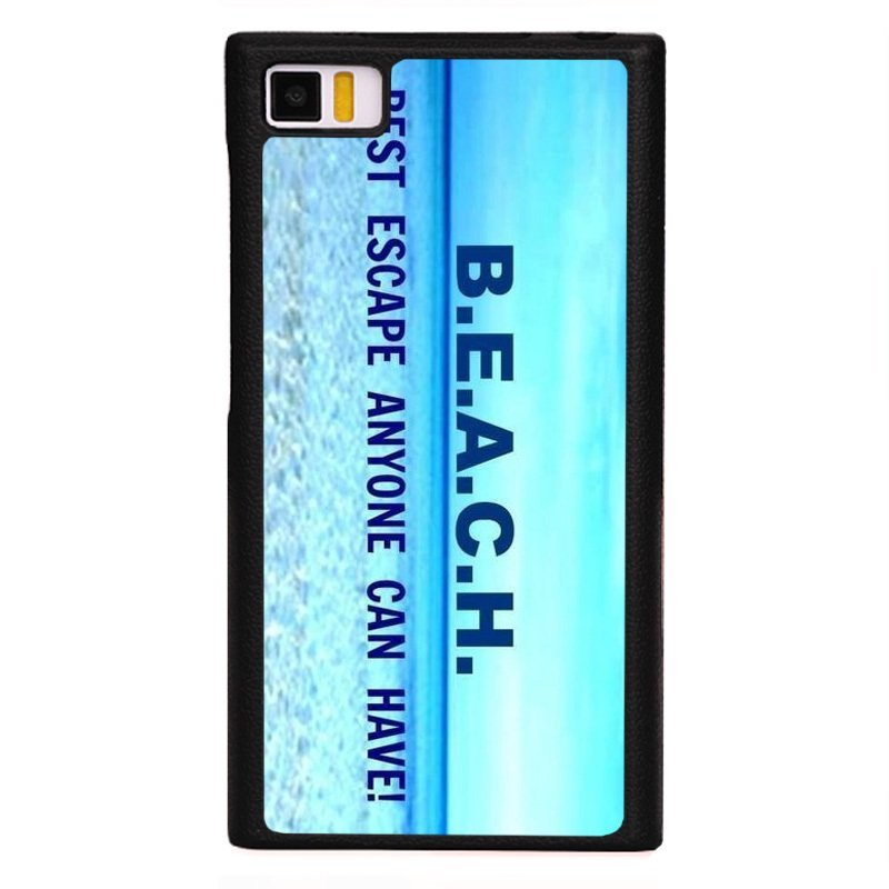 Y&M Blue Beach Letters Phone Case for XiaoMi 3 Black