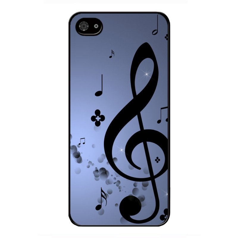 Y&M Cell Phone Case For iPhone 5/5s Beautiful Music Notes Pattern Cover (Multicolor)
