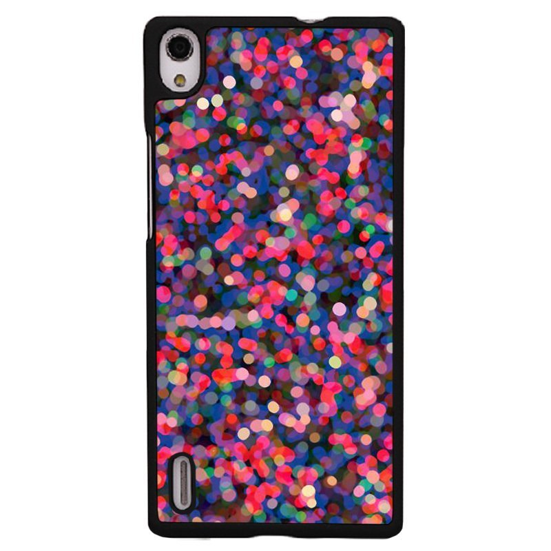 Y&M Colorful Bling Drop Cover for Huawei P7 (Black)